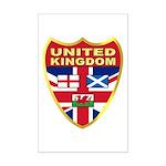 UK Badge Mini Poster Print