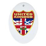 UK Badge Ornament (Oval)