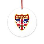 UK Badge Ornament (Round)