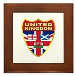 UK Badge Framed Tile