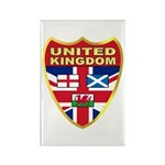 UK Badge Rectangle Magnet (10 pack)