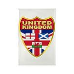 UK Badge Rectangle Magnet (100 pack)