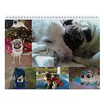 """PugVillage - Pug Wall Calendar """"E"""""""