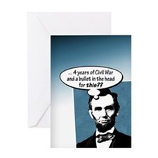 Abe Lincoln... Greeting Card