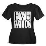 1001. EVE WHO Women's Plus Size Scoop Neck Dark T-