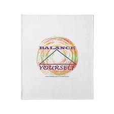 Balance Yourself Throw Blanket