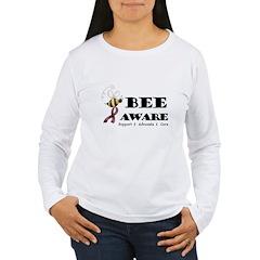 Bee Aware - Burgundy T-Shirt