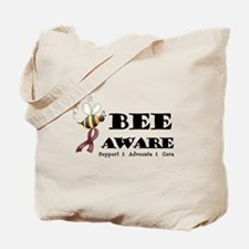 Bee Aware - Burgundy Tote Bag