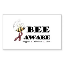 Bee Aware - Burgundy Decal
