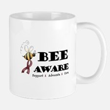 Bee Aware - Burgundy Mug