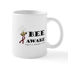Bee Aware - Burgundy Mug