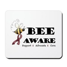 Bee Aware - Burgundy Mousepad
