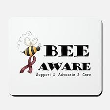 Bee Aware - Burgundy Mousepad