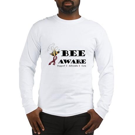 Bee Aware - Burgundy Long Sleeve T-Shirt