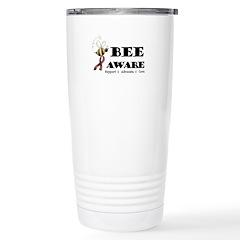 Bee Aware - Burgundy Travel Mug