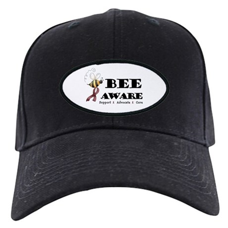 Bee Aware - Burgundy Black Cap