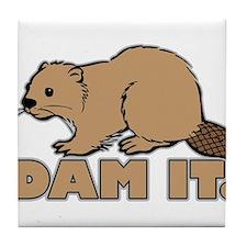 Dam It. Tile Coaster