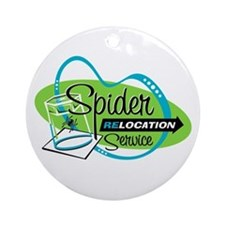 Spider Relocation Service Ornament (Round)