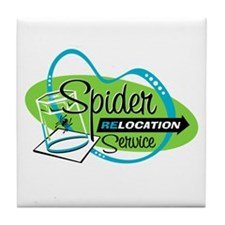 Spider Relocation Service Tile Coaster