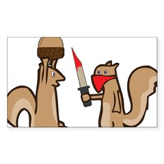 Nut Thief Sticker (Rectangle)