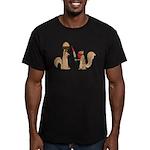Nut Thief Men's Fitted T-Shirt (dark)