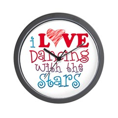 I Love Dancing wtih the Stars Wall Clock