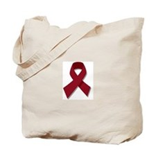 Burgundy Ribbon Gear Tote Bag