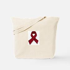 Burgundy Ribbon Gear Tote Bag