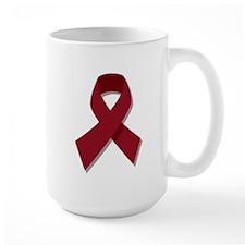 Burgundy Ribbon Gear Mug