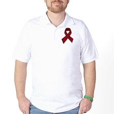 Burgundy Ribbon Gear T-Shirt