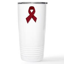 Burgundy Ribbon Gear Travel Mug
