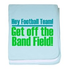 Marching Band Field baby blanket