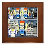 Writers' Party Framed Tile