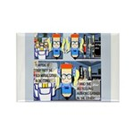 Writers' Party Rectangle Magnet