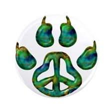 "Paw Peace 3.5"" Button"
