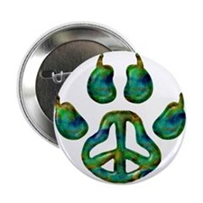 "Paw Peace 2.25"" Button"