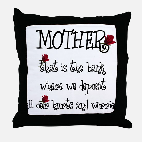 A Mother's Care Throw Pillow
