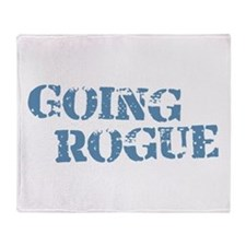 Blue Going Rogue Throw Blanket