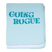 Blue Going Rogue baby blanket