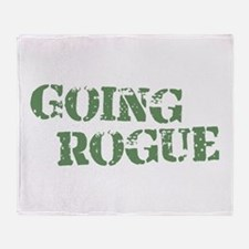 Military Going Rogue Throw Blanket
