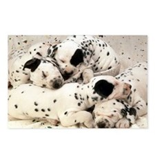 DALMATION PUPPY PILE Postcards (Package of 8)