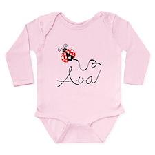 Ladybug Ava Long Sleeve Infant Bodysuit