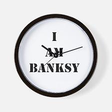 I Am Banksy Wall Clock