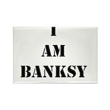 I Am Banksy Rectangle Magnet