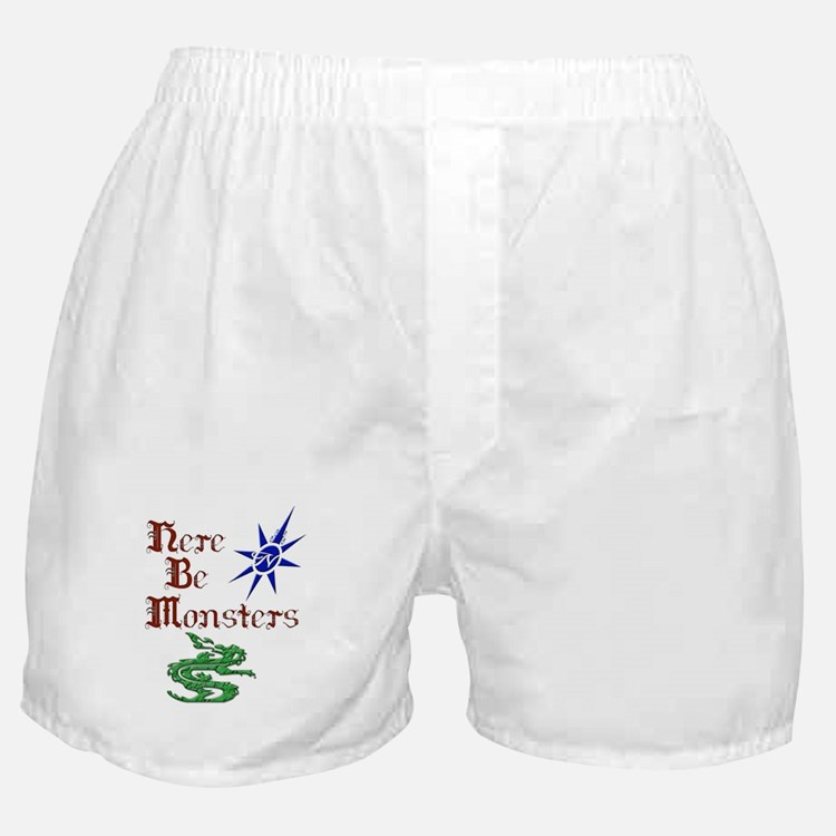 Here Be Monsters Boxer Shorts