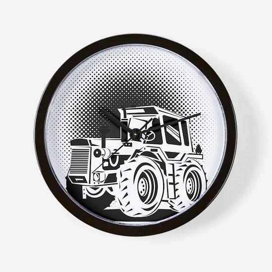 vintage farm tractor Wall Clock