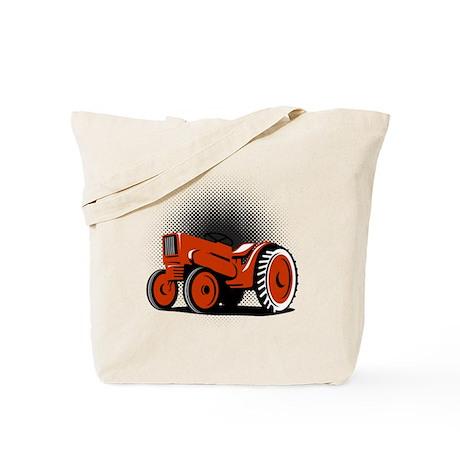 vintage farm tractor Tote Bag