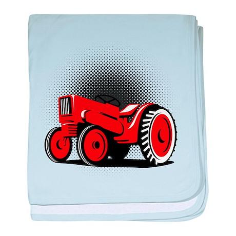 vintage farm tractor Infant Blanket