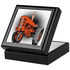 vintage farm tractor Keepsake Box