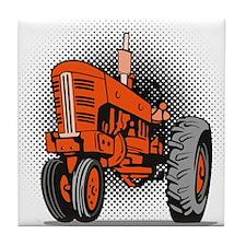 vintage farm tractor Tile Coaster
